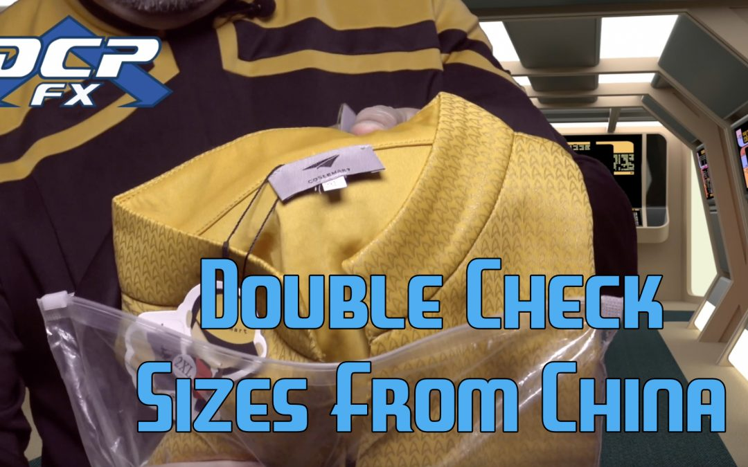 Double check Sizes From China